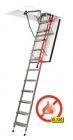 Protipožární kovové skládací zateplené schody LMF 120min