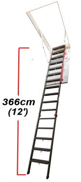 Kovové skládací zateplené schody LMP